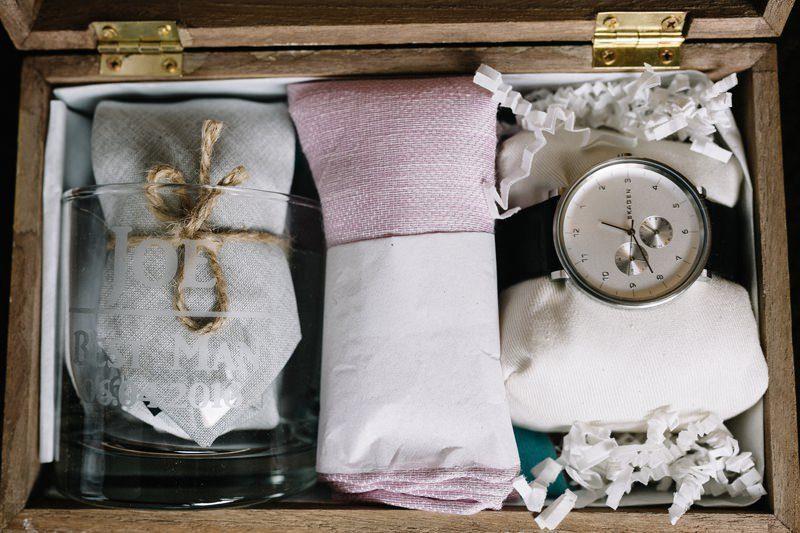 prepare groomsmen gifts