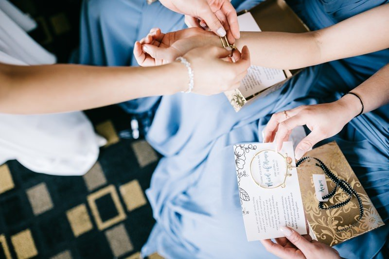 prepare the gifts for your bridesmaids
